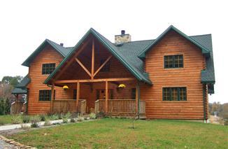 Public Auction, Custom Log Home, Stewartstown, PA